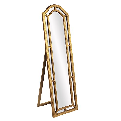 Howard Elliott 56144 Mark Standing Mirror, Gold