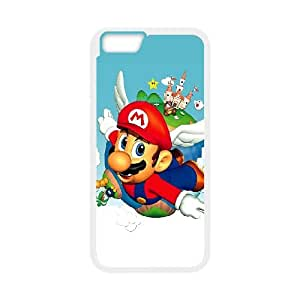 iPhone 6 Plus 5.5 Inch Cell Phone Case White Super Mario Bros Clear Phone Case Cover Unique CZOIEQWMXN30627
