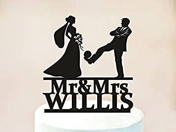 Soccer Football Theme Wedding Cake Topper With The Last Name,Soccer ...