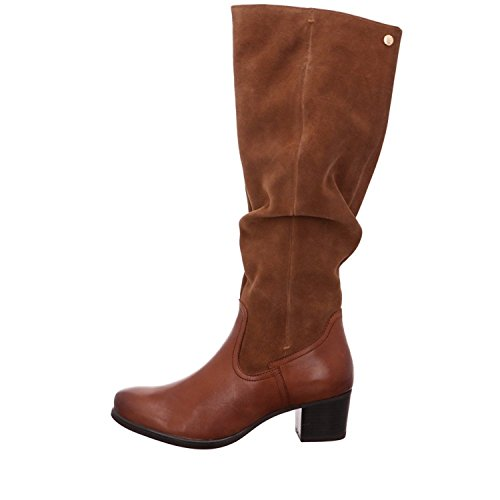 Caprice Womens 25529 Tall Suede Boots - Cognac A43Ahf