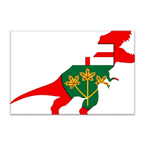 GREDBH Canada Ontario Flag Dinosaur Placemat Heat-Resistant Washable Place Mats for Kitchen Dining Table Decor 1 -