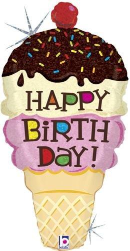 Ice Cream Cone Shaped Happy Birthday 33