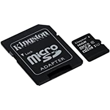 Kingston Canvas Select 16GB microSDHC Class 10 microSD Memory Card UHS-I 80MB/s R 10MB/s W Flash Memory Card with Adapter (SDCS/16GB)
