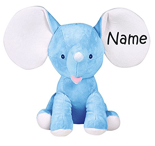 Personalized Stuffed Royal Blue Elephant with Embroidered Name ()