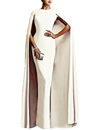 Womens Long Mermaid Formal Gown Prom Evening Dresses Cape EL349