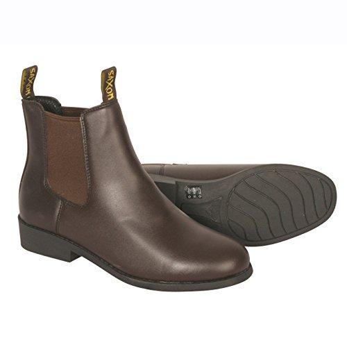 Saxon - Botas de equitación para niño Marrón marrón
