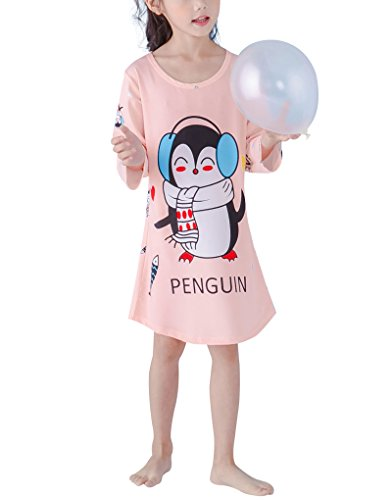 MyFav Little Girls Lovely Penguin Sleepwear Dresses Winter Sleep Shirt 2-12Years by MyFav