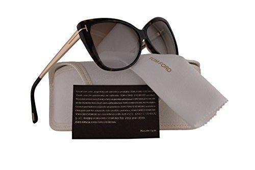 Tom Ford FT0512 Reveka Sunglasses Dark Havana w/Brown Mirror Lens 52G TF512