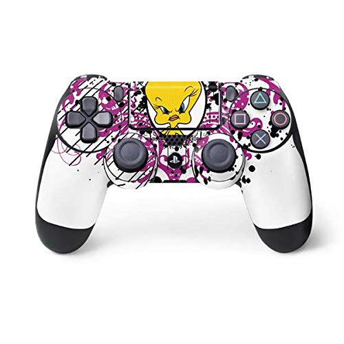 (Skinit Tweety Bird with Attitude PS4 Controller Skin - Officially Licensed Warner Bros Gaming Decal - Ultra Thin, Lightweight Vinyl Decal Protection)