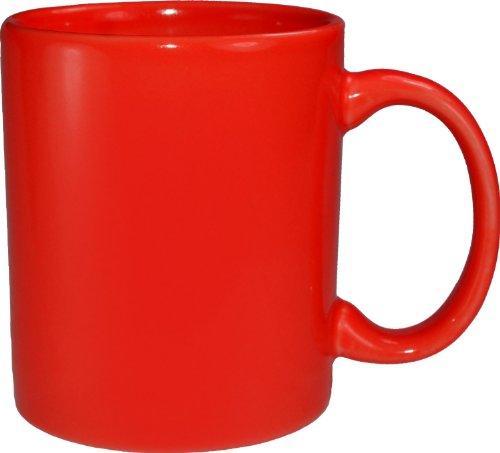 ITI 87168-2194 36-Piece Cancun C-Handle Mug, 11-Ounce, Stanford Red by ITI