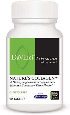 DaVinci Laboratories, Nature's Collagen, Hair, Skin, Nails, and Joint Health Supplement, Gluten-Free, 90 Tablets