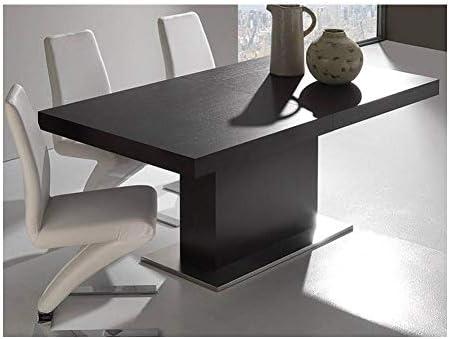 La Seggiola Mesa Comedor diseño Extensible Domus Color Wengué ...