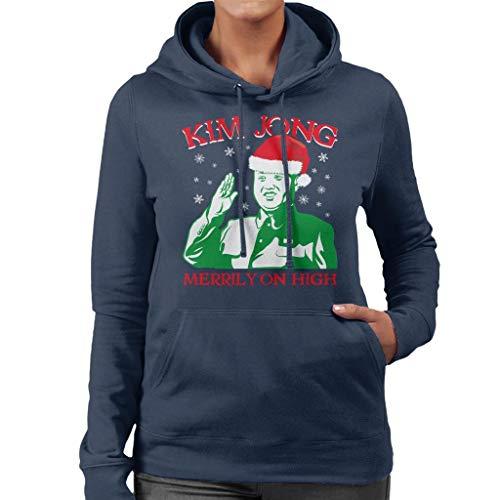 High Women's On Christmas Navy Kim Coto7 Blue Sweatshirt Merrily Hooded Jong P4YWIxna