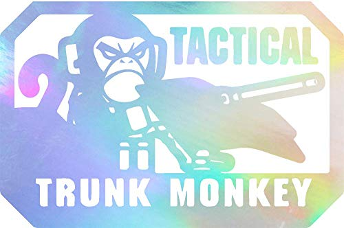 NBFU DECALS Tactical Trunk Monkey Morale Patch (Hologram) (Set of 2) Premium Waterproof Vinyl Decal Stickers for Laptop Phone Accessory Helmet Car Window Bumper Mug Tuber Cup Door Wall Decoration ()