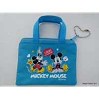 Disney Mickey Mouse Blu Mini Zipper Purse Pouch