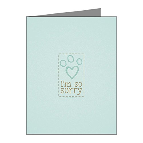 CafePress - Pet Loss Sympathy Blue Note Cards (Pk Of 20) - Blank Note Cards (Pack of 20) Matte