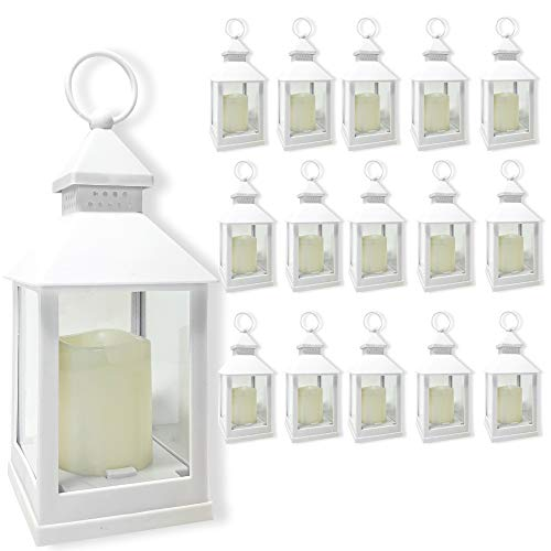 BANBERRY DESIGNS Decorative Lanterns Set - Set of 16-5 Hour Timer - 9 3/8