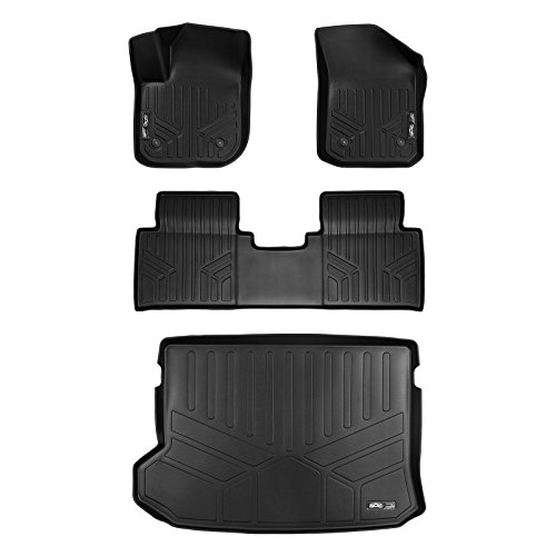 MAX LINER A0225/B0225/D0225 Custom Fit Floor Mats 2 Rows and Cargo Liner Set Black for 2016-2019 Buick Envision