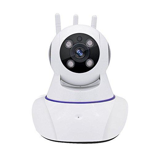 Joney Wireless HD IP Camera with 3pcs wireless antenna,Support 2 Way Audio, Day/Night Vision Webcam (1.3MP) by Joney (Image #6)