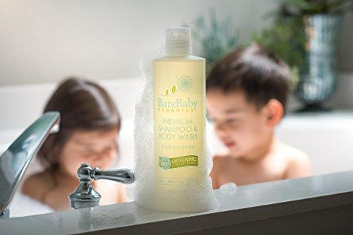 Organic Baby Shampoo & Body Wash with Aloe, Cucumber, Citrus Essential Oils – Safe, Gentle, Tear Free – Eczema Friendly – Paraben, Dye, Gluten, and Sulfate Free – 16 oz by BareBaby Organics (Image #2)