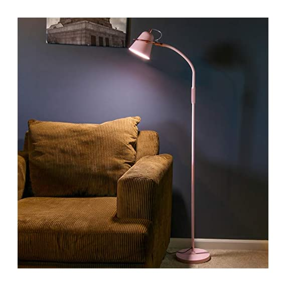 "Brightech Zoey - LED Reading, Craft & Task Floor Lamp - Dimmable & Light Color Adjustable with Touch Switch- Standing… - PLACE OVER A SOFA AND USE THE GOOSENECK TO DIRECT LIGHT INTO YOUR LAP: Place the Brightech Zoey beside the couch to light up the novel or cross-stitch you're holding in your lap. Use the flexible yet sturdy gooseneck to position the light perfectly. Once in place, it stays put. It stands up to 64 1/2"" base to top. INDUSTRIAL UPRIGHT LAMP SUITS MANY DECORS: The architect look of the Brightech Zoey pairs well with, urban, art deco, mid-century, contemporary, industrial or ultra-mod décor. Turns on and off easily via a touch switch, and dims with a stepless dimmer. DIMMABLE & LIGHT COLOR ADJUSTABLE - FOR READING & CRAFTS OR MOOD LIGHTING: Capable of both mood and task lighting, Brightech's Zoey solves your home or office needs brightly and efficiently. Choose the color of your light at 3,000K Warm White, 4,500K Cool White or 6,000K Daylight white. The stepless dimming function allows you to simplify the process. The dimmable floor lamp can adjust brightness between 10% and 100%. Use the brightest for tasks in your office and the lowest for a cozy mood. - living-room-decor, living-room, floor-lamps - 41NdA692A6L. SS570  -"