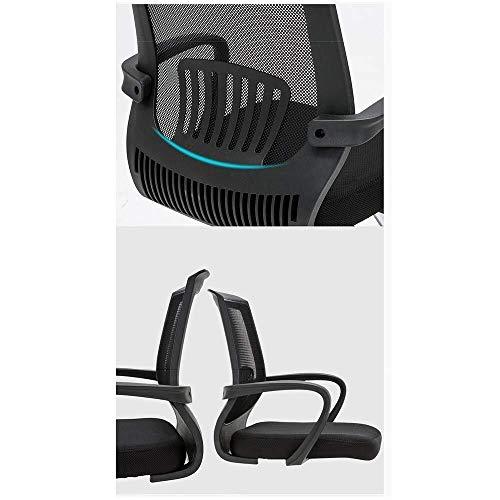 XKKD stol hem kontor skrivbordsstol andningsbar nät dator skrivbord och stol stålrör konsol konferensstol bärande vikt 120 kg svart