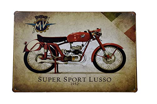 - H&K Super Sport Lusso Motorcycle Retro Metal Tin Sign Posters Wall Decor 12X8-Inch (Super Sport)
