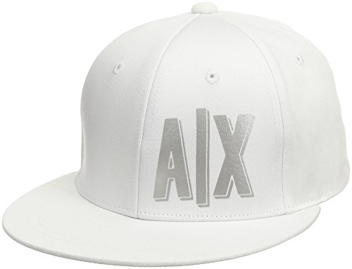 Price comparison product image A / X Armani Exchange Women's AX Logo Hat,  Bianco,  One Size
