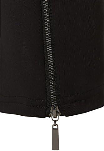 Roman Originals Scuba color negro Pantal/ón con cremallera para mujer
