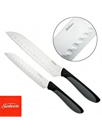 PickUp 2 Sunbeam Durant Santoku Knife Set Stainless Steel Comfort Non-Slip Grip Handle compare
