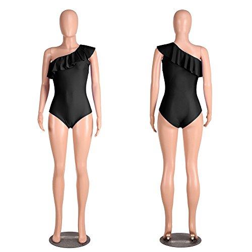 Bañador De Una Pieza Trajes De Baño Bikini Para Mujer Ropa De Playa Verano Ropa De Baño Swimwear Negro