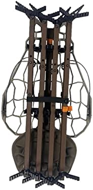 Lone Wolf Assault Hunt Ready Treestand System, Climbing Sticks, Quiver, Leveling Function, Mobile Hunting, Out