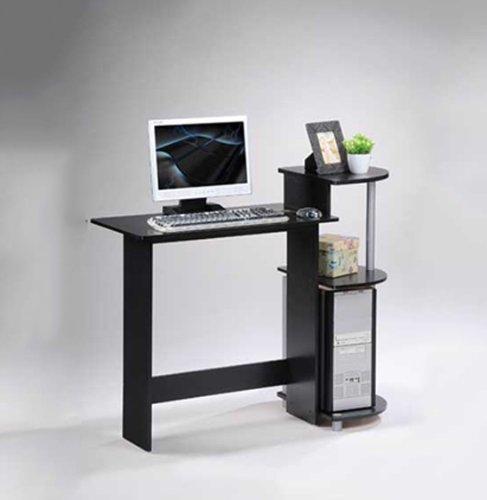Furinno 11181BK/GY Compact Computer Desk, Black/Grey New