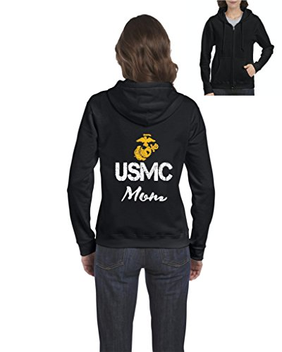 Ugo USMC Mom Seal The Proud U.S. Marines Fight to Win Matching Couple w Dad Gift for Mothers Day Homecoming Party Xmas Full-Zip Women's Hoodie (Dad Womens Zip Hoodie)