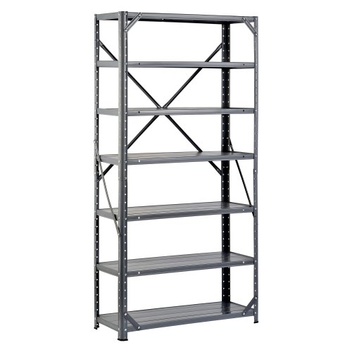 Edsal HC30127 Steel 7-Shelf Shelving Unit, 750 lb Capacity, 30