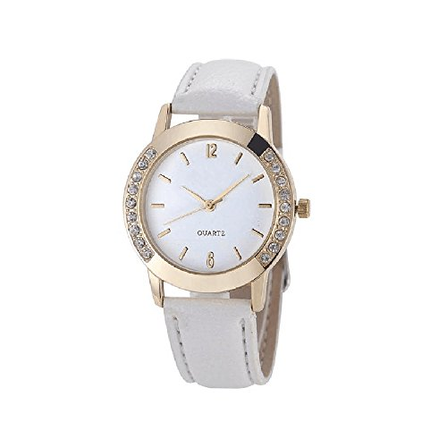 Vintage White Wrist Watch (Women watch,SMTSMT Women's Diamond Quartz Wrist)