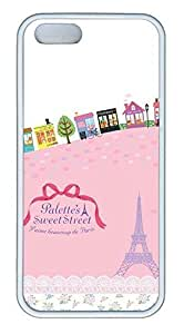 Comic Paris Cover Case Skin for iPhone 5 5S Soft TPU White by ruishername