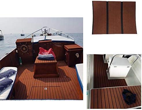 Light Grey with Black Lines Second Generation Upgrade EVA Faux Teak Decking Sheet for Boat Yacht Non-Slip 94.5/× 35.4 Bevel Edges