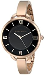 Anne Klein Women's AK/1826BKRG Rose Gold-Tone Bangle Watch