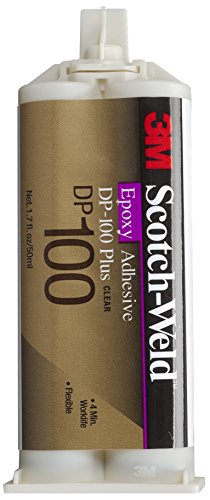 3M Scotch-Weld Epoxy Adhesive DP100 Plus Clear, 1.69 oz (Pack of ()