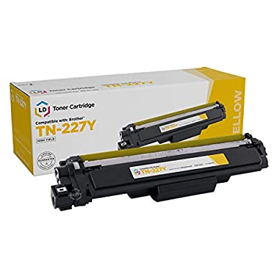 LD Compatible Toner Cartridge Replacement for Brother TN-227Y High Yield (Yellow)