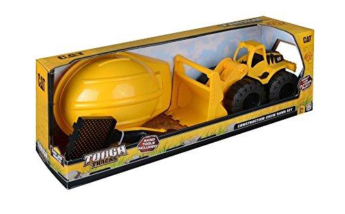 CAT Tough Tracks Construction Crew Sand Set - Wheel Loader (Caterpillar Wheel Excavator)