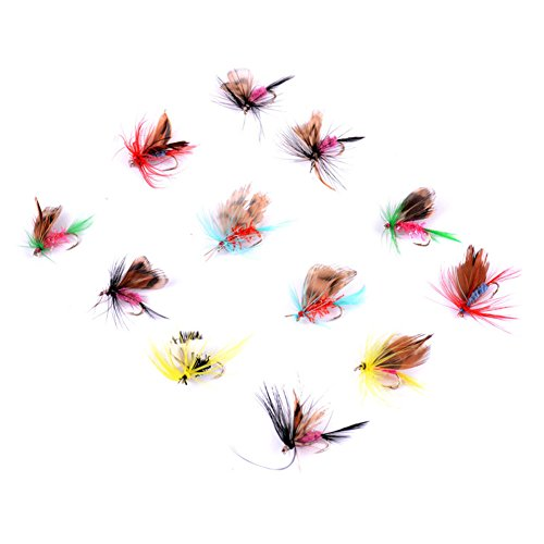 Gamefish Kit - 12pcs Butterfly Floating Dry Flies packed in an Assortment