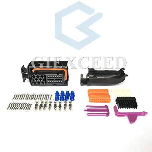 1 Sets 40 Pin 2JZ Automotive ECU Connector with Pins and Seals Ignition Harness Plug for VW 038906379B / 038 906 379 B