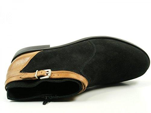 botas SPM cuero mujer Mount de 17876707 Schwarz para rr1Eq