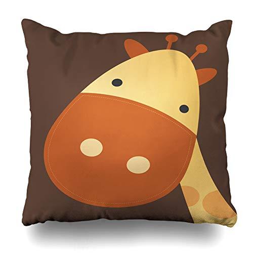 Suesoso Decorative Pillows Case 18 X 18 Inch Nursery Art Throw Pillowcover Cushion Decorative Home Decor Garden Sofa Bed Car