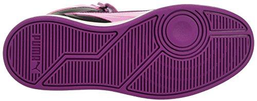 Puma Jr Liza Mid Dazz Sneaker, Pastel Negro/Lavender, 3,5
