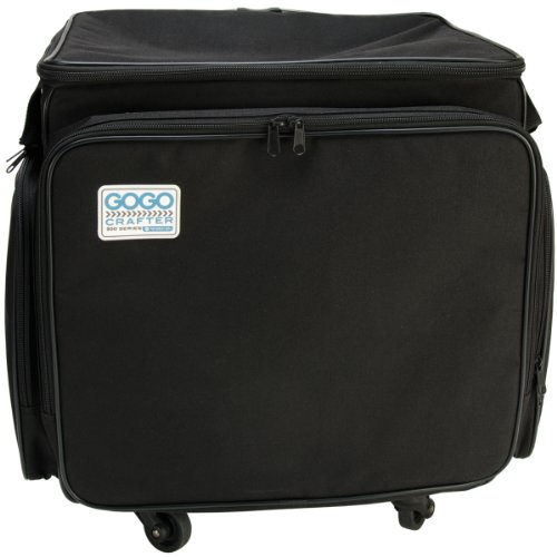 (Hampton Art GOGO 300 Crafter Rolling Tote, 20-Inch by 17-Inch by 14-Inch, Black)