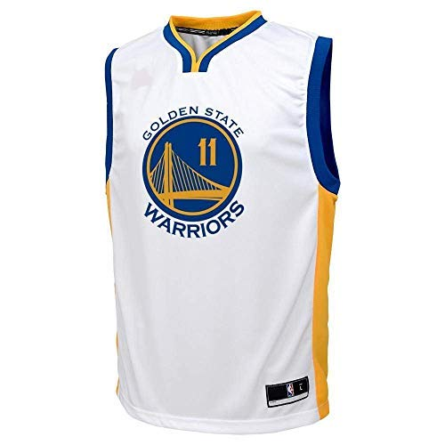 Outerstuff Klay Thompson Golden State Warriors NBA Youth 8-20 White Home Player Jersey
