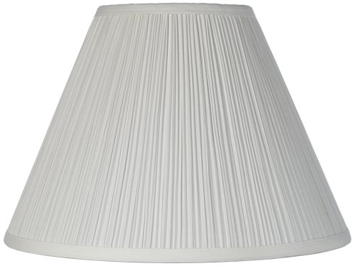 Pleated Lamp Shades - Brentwood Antique White Lamp Shade 6.5x15x11 (Spider)